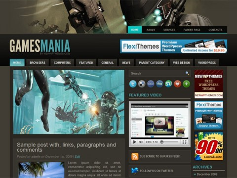 Tema Wordpress Gamesmania